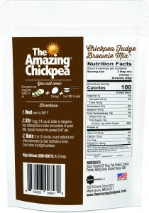 The Amazing Chickpea - Fudge Brownie Mix Back Panel