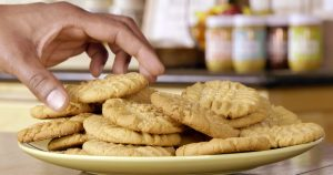 Chickpea Cookies in a plate