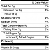 Roasted Chickpea Cocoa Protein Powder Nutrition Facts