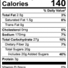 The Amazing Chickpea Chocolate Chip Cookie Mix Nutrition Facts